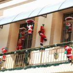 Babbo Natale da balcone