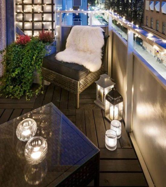 Candele in terrazzo