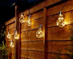 catene luminose per terrazzo