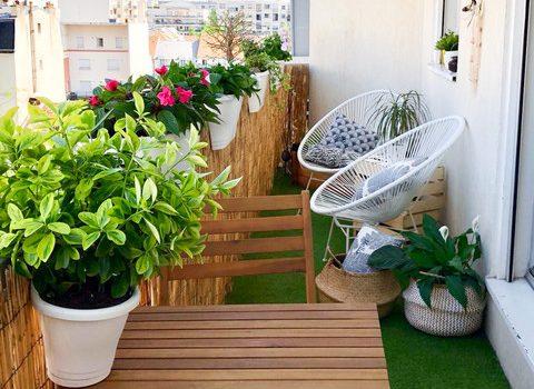Coprire ringhiera del balcone con arella