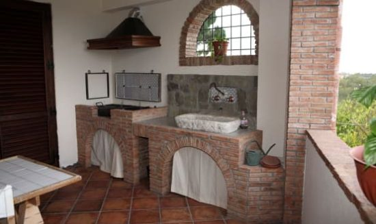 Cucina da terrazzo
