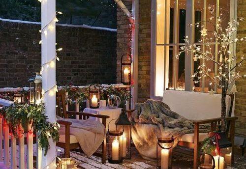 Decorare terrazzo per Natale