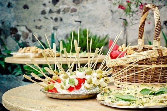 festa terrazzo idea buffet