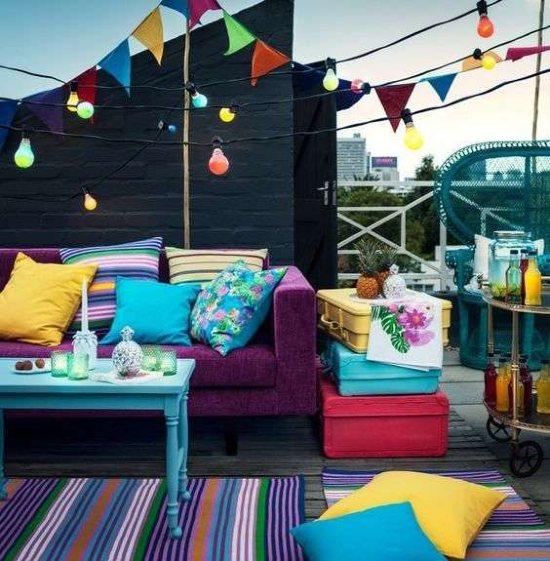 Idea d'arredo festa in terrazzo