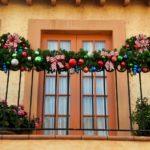 ghirlande natalizie balcone