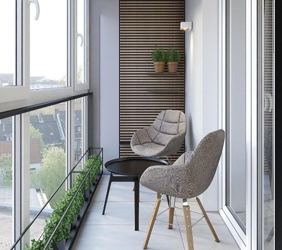 idea di arredo per balcone veranda