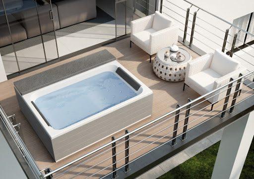 idromassaggio sul balcone