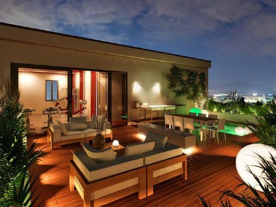 Illuminare un terrazzo attico