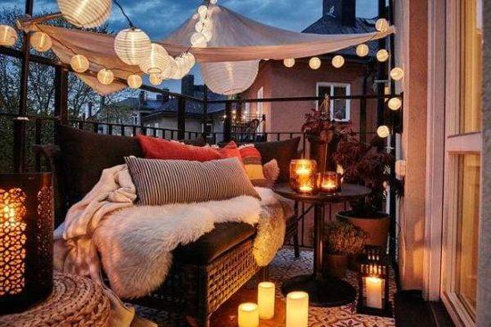 abbellire il terrazzo con l'illuminazione giusta