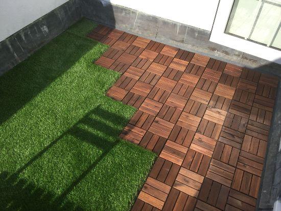 Mattonelle erba sintetica terrazzo