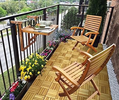 Sedie legno da esterno balcone piccolo