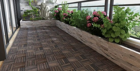 Pavimento legno per terrazzo zen