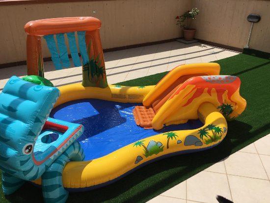 Piscina parco giochi per bambini da terrazzo