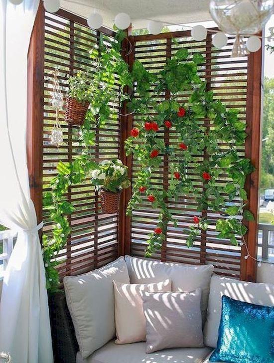 Privacy balcone con le piante