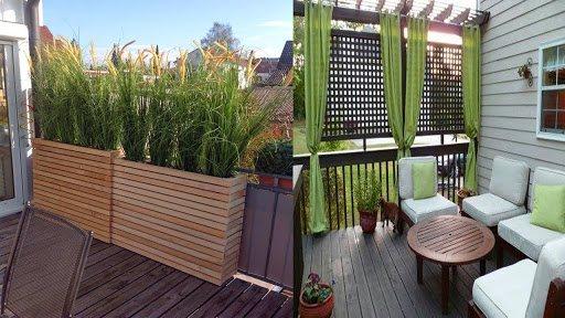 Privacy in terrazzo