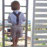 Protezione balcone bambino