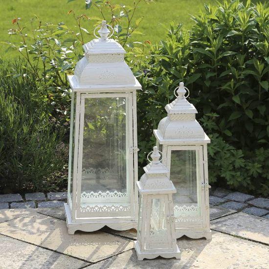 Set 3 lanterne da esterno