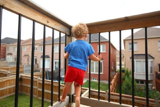 Sicurezza balcone per bambini