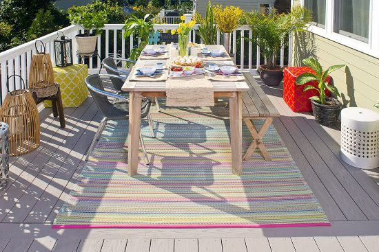 tappeto colorato da terrazzo