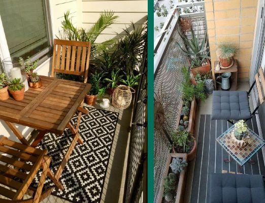 Set Tavolino e sedie per balcone lungo e stretto
